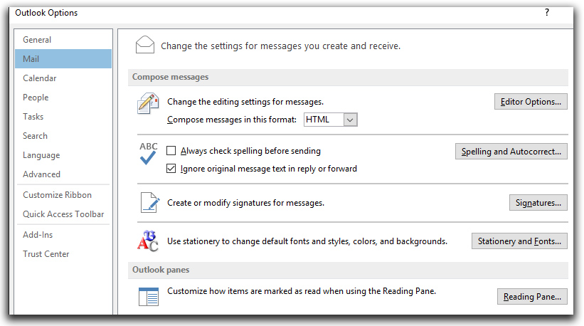 New Signature in Outlook 2013