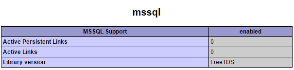 MSSQL in php