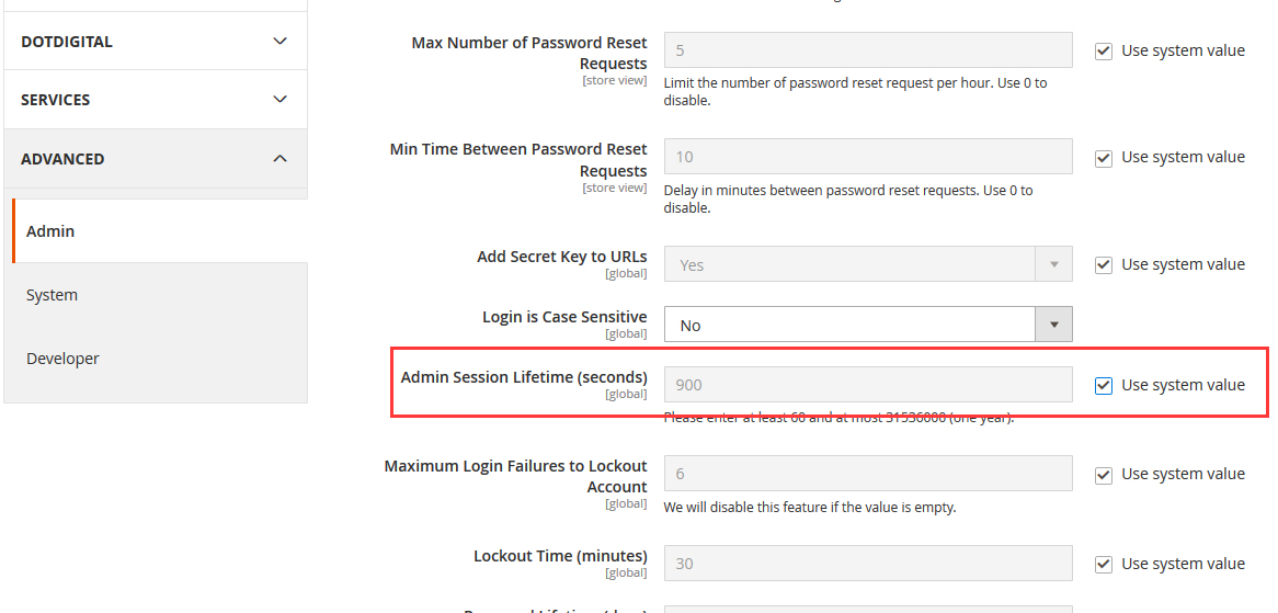 How To Change The Magento 2 Admin Session Timeout