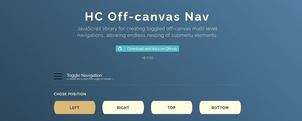 HC Off-canvas Nav