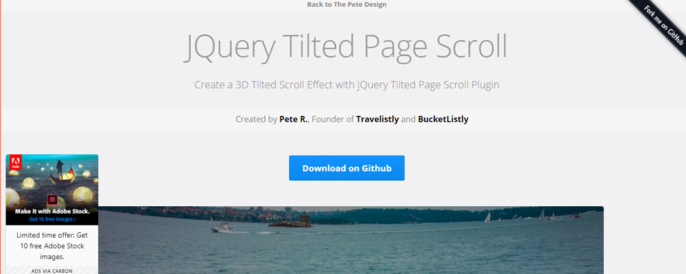 JQuery-Tilted-Page-Scroll