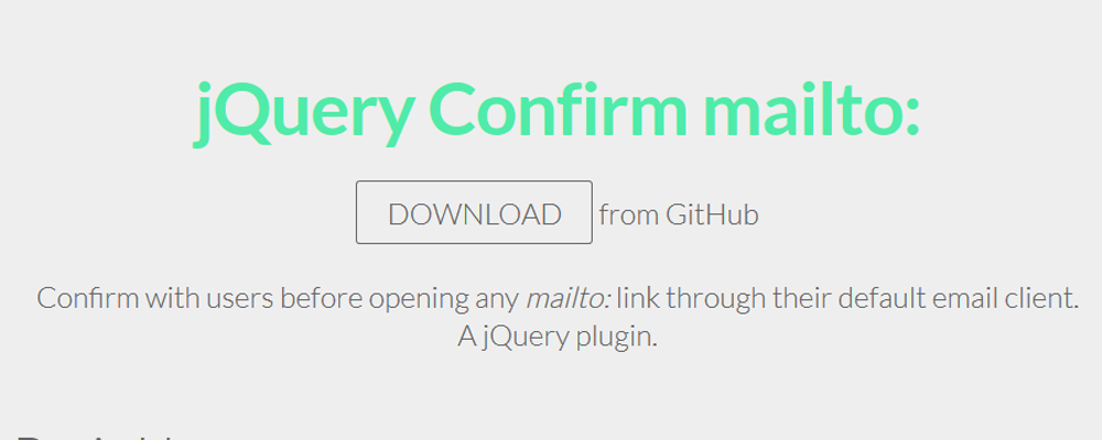 jQuery-Confirm-mailto