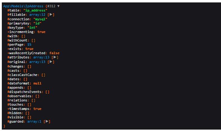 Laravel dd() function in action